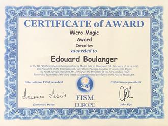 Prix FISM Europ Edouard Boulanger